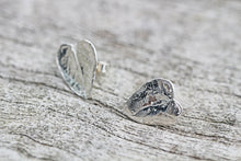 Load image into Gallery viewer, Fine Silver Leaf Earrings