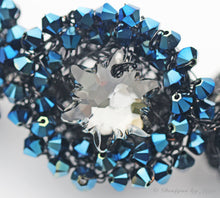 Load image into Gallery viewer, Swarovski OOAK Statement Necklace on Sterling Silver