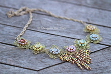 Load image into Gallery viewer, Swarovski Pastel Pearl & Crystal OOAK Statement Necklace