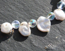 Load image into Gallery viewer, Bridal Keishi Pearl & Swarovski Crystal Bracelet
