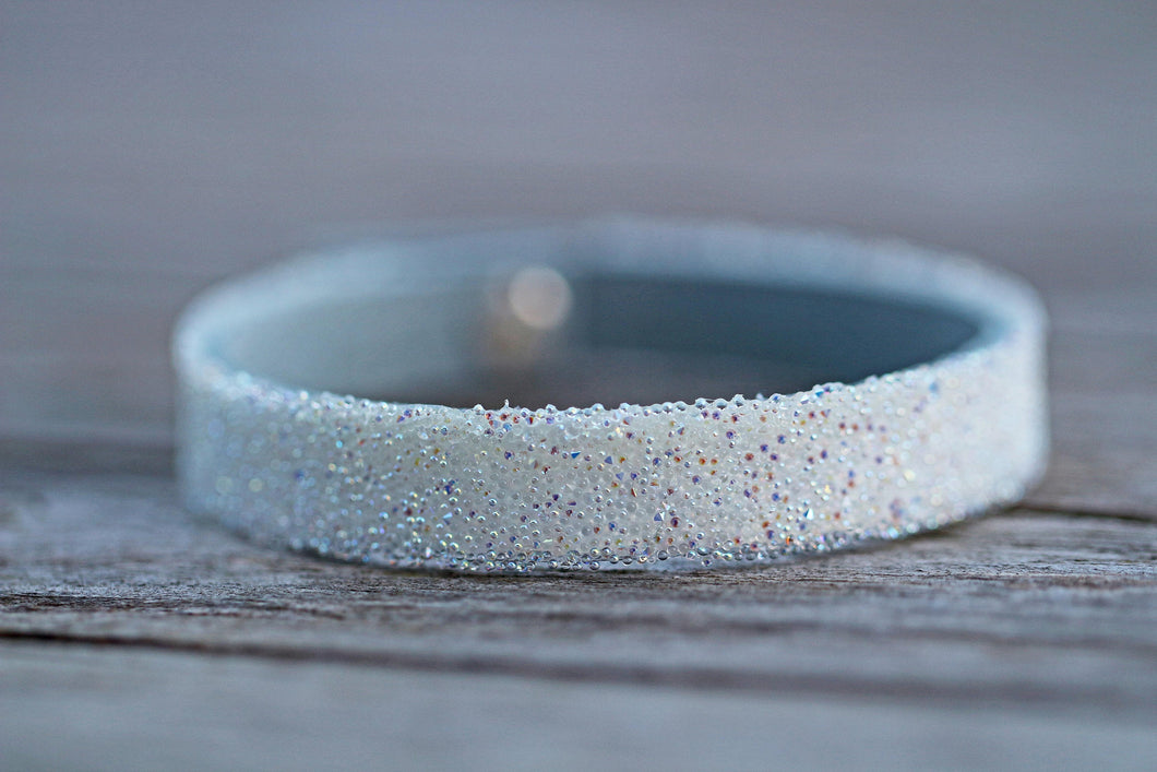 Swarovski Crystal AB leather cuff bracelet