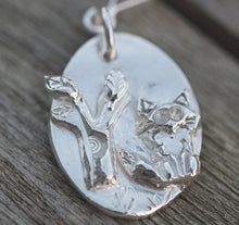 Load image into Gallery viewer, Foxy Loxy Fine Silver Pendant