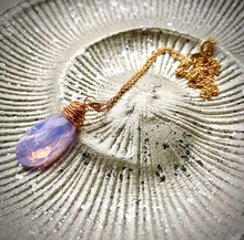 Load image into Gallery viewer, Lilac Ice Opalite Pendant