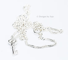 Load image into Gallery viewer, Fine Silver PMC Key Chain Necklace