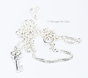 Fine Silver PMC Key Chain Necklace