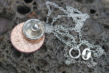 Load image into Gallery viewer, NEW! Rose Gold Leather & Fine Silver Necklace