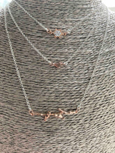 Load image into Gallery viewer, Triple/Layered Sterling silver necklace with rose gold vermeil and plated charms