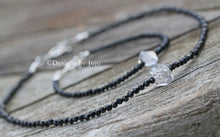 Load image into Gallery viewer, Black Spinel & Herkimer Diamond Gift Set Necklace & Bracelet