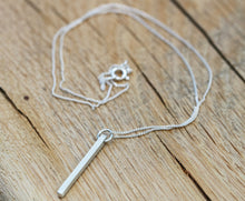 Load image into Gallery viewer, Sterling Silver Bar Necklace