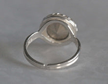 Load image into Gallery viewer, Swarovski Patina White Crystal  Sterling Silver Adjustable Ring