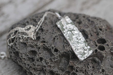Load image into Gallery viewer, Textured Fine Silver Metal Clay Pendant