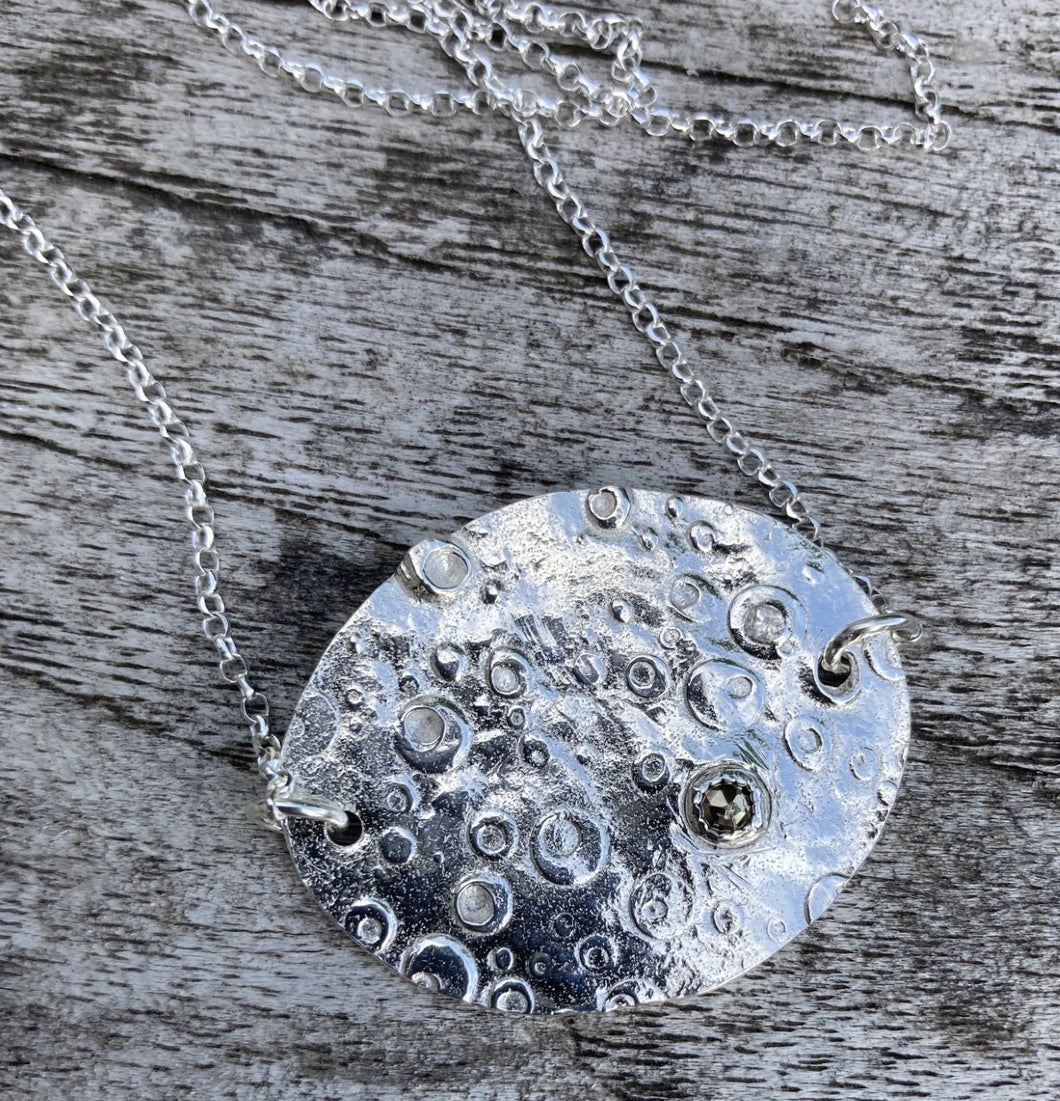 Fine Silver Metal Clay Textured Pendant