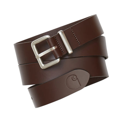 CINTURÓN CARHARTT LOGO BELT BROWN