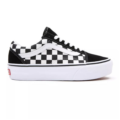 ZAPATILLAS VANS SKOOL PLATFORM CHECKERBOARD BLACK/WHITE