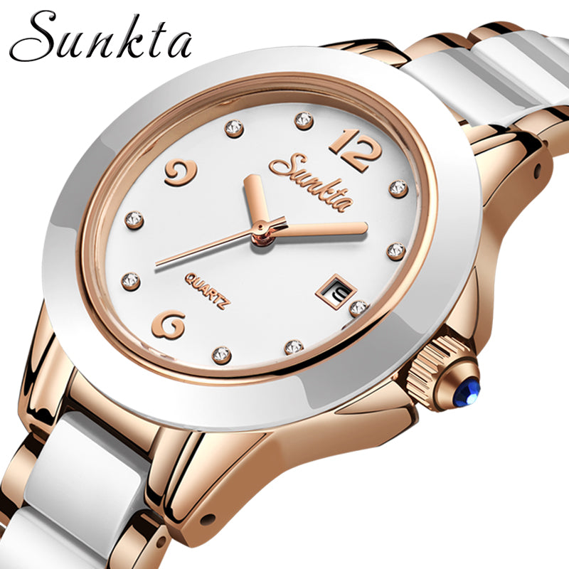 SUNKTA Fashion Watches Waterproof Quartz Watches For Women