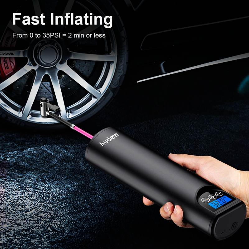 Portable Electric Air Pump LCD Handheld Inflatable Pump for Cars, Bicycles, Tires, and Sports Equipment USB Cordless Wireless