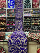 Load image into Gallery viewer, best handmade silk, guaranteed quality, handwoven natural silk, silk outfit,  gift for women, oriental look, anniversary gift, gift for wife, gift for girlfriend, gift for fiancee, eco-friendly fabrics, natural fabrics, top oriental & stylish ikat silk, ikatart, quality, uniqueness, feminity, genuine brand, Uzbek silk, top 10 women present, special gift for mom, unique gift for women, women ikat jackets, handmade silk jackets, exclusive women clothing, online fashion store.