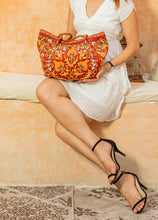 Load image into Gallery viewer, EXCLUSIVE AMAZING MANUAL-STITCHED ORIENTAL SILK MULTICOLORED HANDBAG