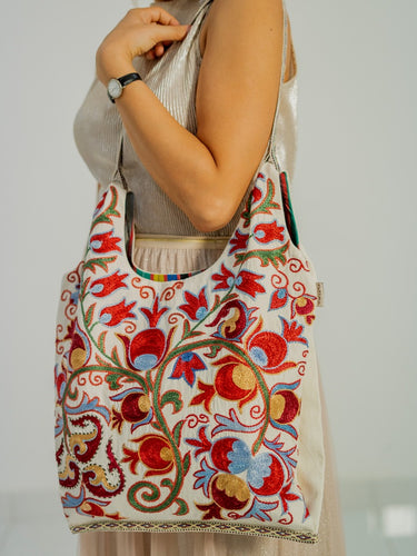 SUZANI (EMBROIDERED) COTTON WOMAN SHOULDER BAG