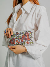 Load image into Gallery viewer, EXCLUSIVE HANDMADE BLOCK-PRINT ORIENTAL CLUTCH MADE OF XX CENTURY OLD BEKASAM