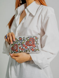 EXCLUSIVE HANDMADE BLOCK-PRINT ORIENTAL CLUTCH MADE OF XX CENTURY OLD BEKASAM