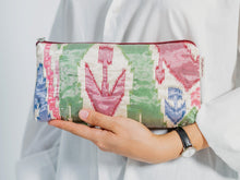 Load image into Gallery viewer, Oriental Handmade Viscose Clutch Bag With Organza Topping For Her.