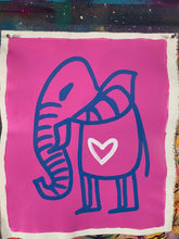 Load image into Gallery viewer, Cave Elephant | Cosmic Pink + Blue + White Heart