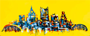Gallery Print/Love the way you live/ Signature Skyline / Golden yellow