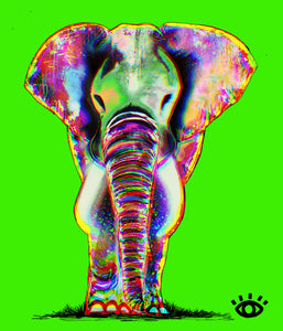 PRINT:  Growth Green / Signature elephant