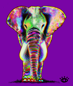 PRINT:  Royal Purple / Signature elephant