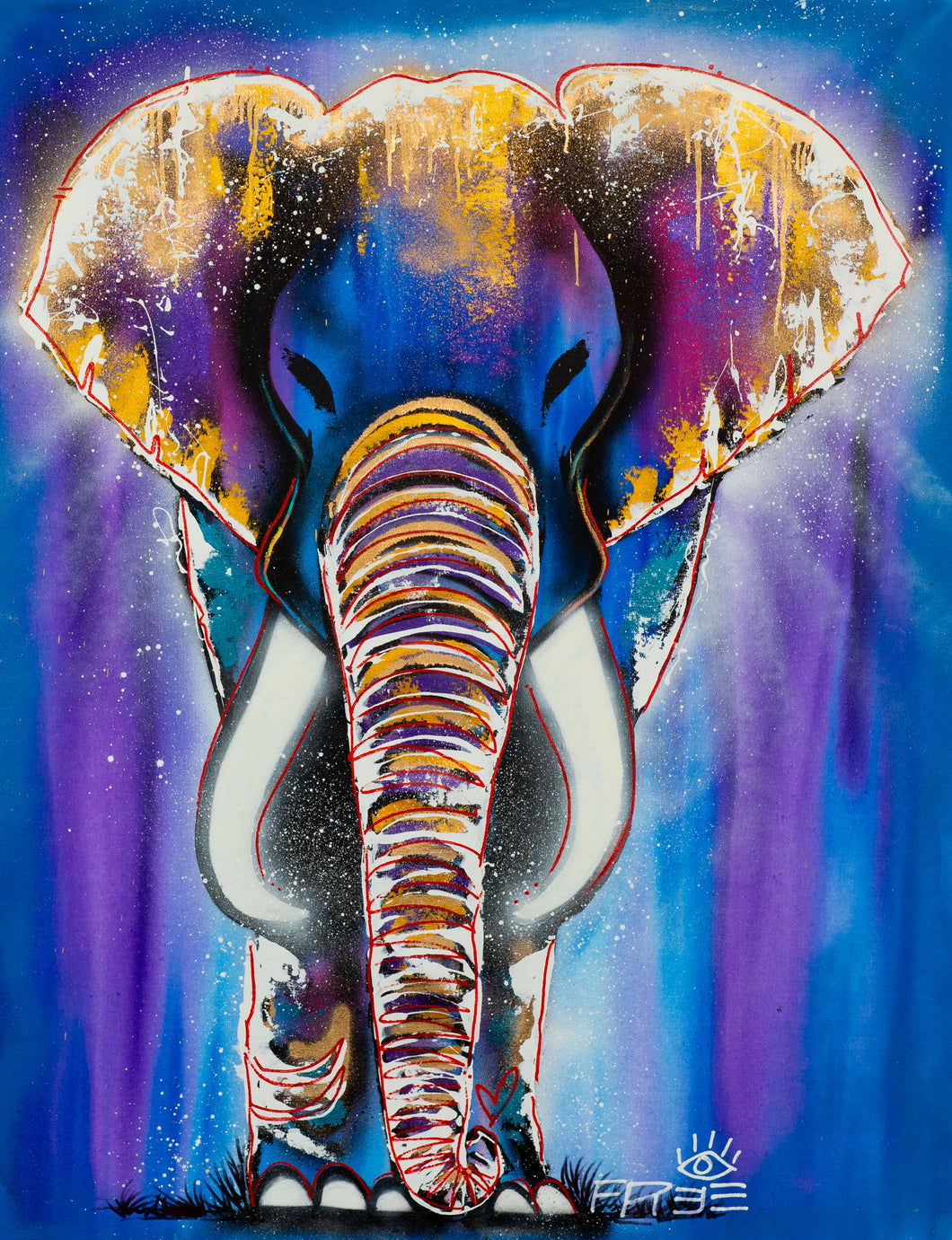 PRINT:  Star Fruit  / Signature elephant