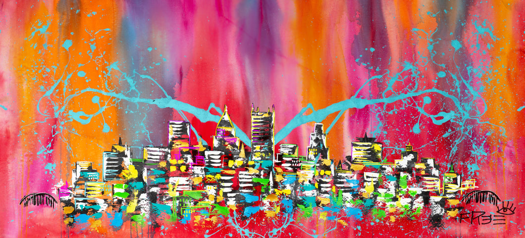 PRINT: Love the way you live / Signature Summer skyline