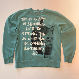 Teal Strengthen Not Hardened Crewneck