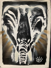 Load image into Gallery viewer, Amazing things / signature elephant / black+ white+ gold