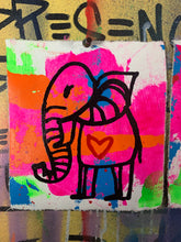 Load image into Gallery viewer, Pocket art Cave elephant collection of two | sacred not scarred