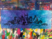 Load image into Gallery viewer, Signature skyline / on dyed fabric