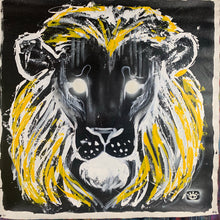 Load image into Gallery viewer, Lion and elephant collection of two / black + yellow