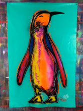Load image into Gallery viewer, Small steps penguin ~ aqua