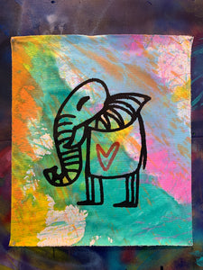 Cave Elephant#12/Multicolor Dyed/2021