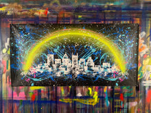 Load image into Gallery viewer, Love the way you live / signature skyline 3 / cosmic splash