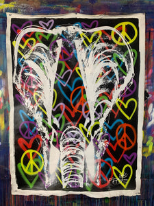 Keep the heart at peace / signature elephant
