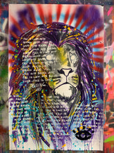 Load image into Gallery viewer, Being alive / Polaris lion / mixed media on paper