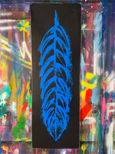 Load image into Gallery viewer, Go fly / signature feather / black + blue