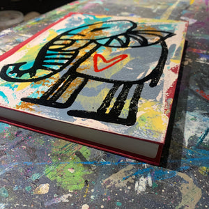 Hand painted art journal