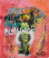Load image into Gallery viewer, Don't fight your blessings / signature elephant /2021