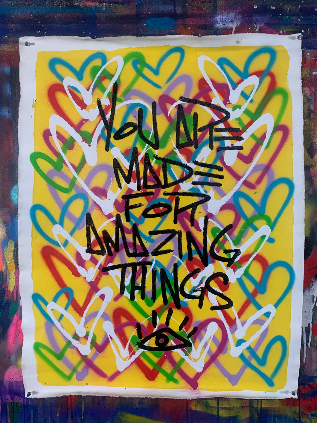 Amazing things / yellow / heart mantra
