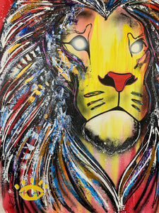 Live boldly/ lion collection of two