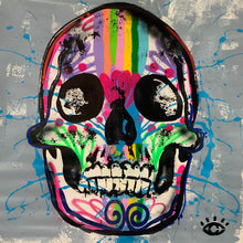 Load image into Gallery viewer, Breathe out the bad stuff and bloom  / sugar skull