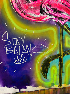 Stay balanced  / flamingo
