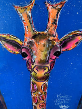 Load image into Gallery viewer, Keep your head up / cosmic blue giraffe